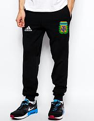 Спортивные штаны Adidas, Адидас, мужские, трикотажные, весна/осень,черного цвета, копия
