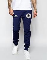 Спортивные штаны Adidas, Адидас, мужские, трикотажные, весна/осень,синего цвета, копия