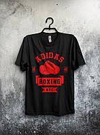 Молодежная футболка Adidas Boxing Адидас черная (большой принт)
