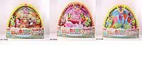 Коврик для малышей с погремушками на дуге, 3 вида микс, 325-6896