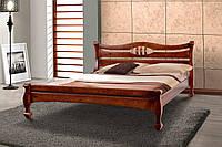 Кровать Динара 1,6 м орех темный двуспальная деревянная