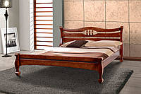 Кровать деревянная двуспальная Динара 1,6 м орех темный