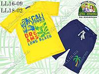 Костюм для мальчика трикотажный California, желтый с синим