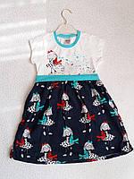 Трикотажное платье Pink. 3-6 лет