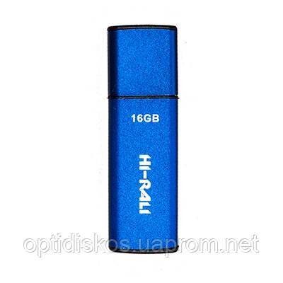 Флешка Hi-Rali 16GB Vektor series, синяя