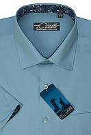 """Мужская рубашка с коротким рукавом """"Castello -Аляска"""""""