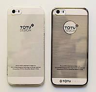 Чехол на Айфон 5/5s/SE Totu Breeze Пластик Горизонтальные полосы Прозрачный + Чехол, фото 1