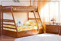 Ліжко двоярусне з ящиками Юлія