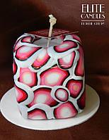 Квадратная декоративная свеча ELITE CANDLES цвета Марсала для интерьера или подарка
