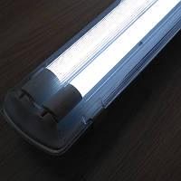 Комплект - светильник + 2 LED лампы 1200 мм 18 W 6400К пылевлагозащищенный IP65
