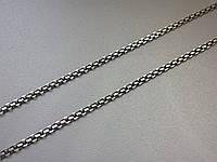 Цепочка тонкая, двойной якорь, черненый, BS2R 40ox