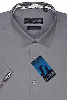 """Мужская рубашка с коротким рукавом """"Castello -Pale grey"""""""