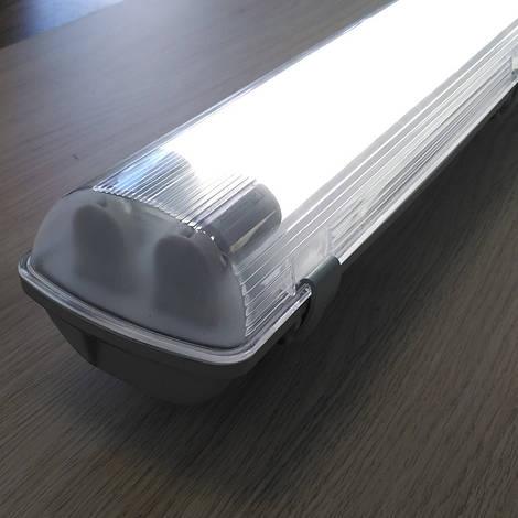 Комплект - светильник + 2 LED лампы 600 мм 9W 4000К пылевлагозащищенный IP65