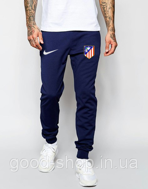 Мужские спортивные штаны Найк, штаны Nike на манжете трикотажные, (на флисе и без) копия S