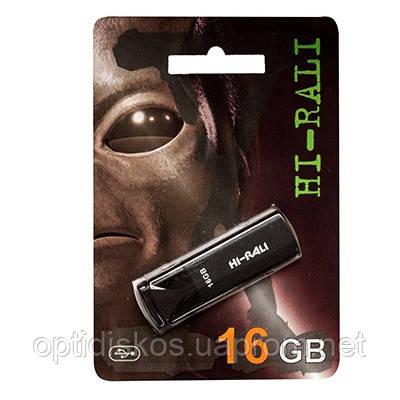Флешка Hi-Rali 16GB Vektor series, черная, фото 2