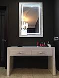Мебель для спальни белая, туалетный столик с зеркалом и подсветкой, фото 4