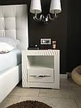 Мебель для спальни белая, туалетный столик с зеркалом и подсветкой, фото 5