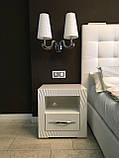 Мебель для спальни белая, туалетный столик с зеркалом и подсветкой, фото 6