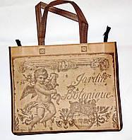 Еко сумка для покупок спан-бонд 42х35х12