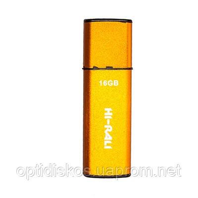 Флешка Hi-Rali 16GB Vektor series, золотистая