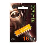 Флешка Hi-Rali 16GB Vektor series, золотистая, фото 2