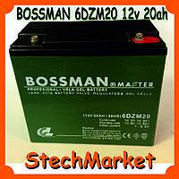 Аккумулятор BOSSMAN 6DZM20 12v 20ah (Гелиевый) тяговый