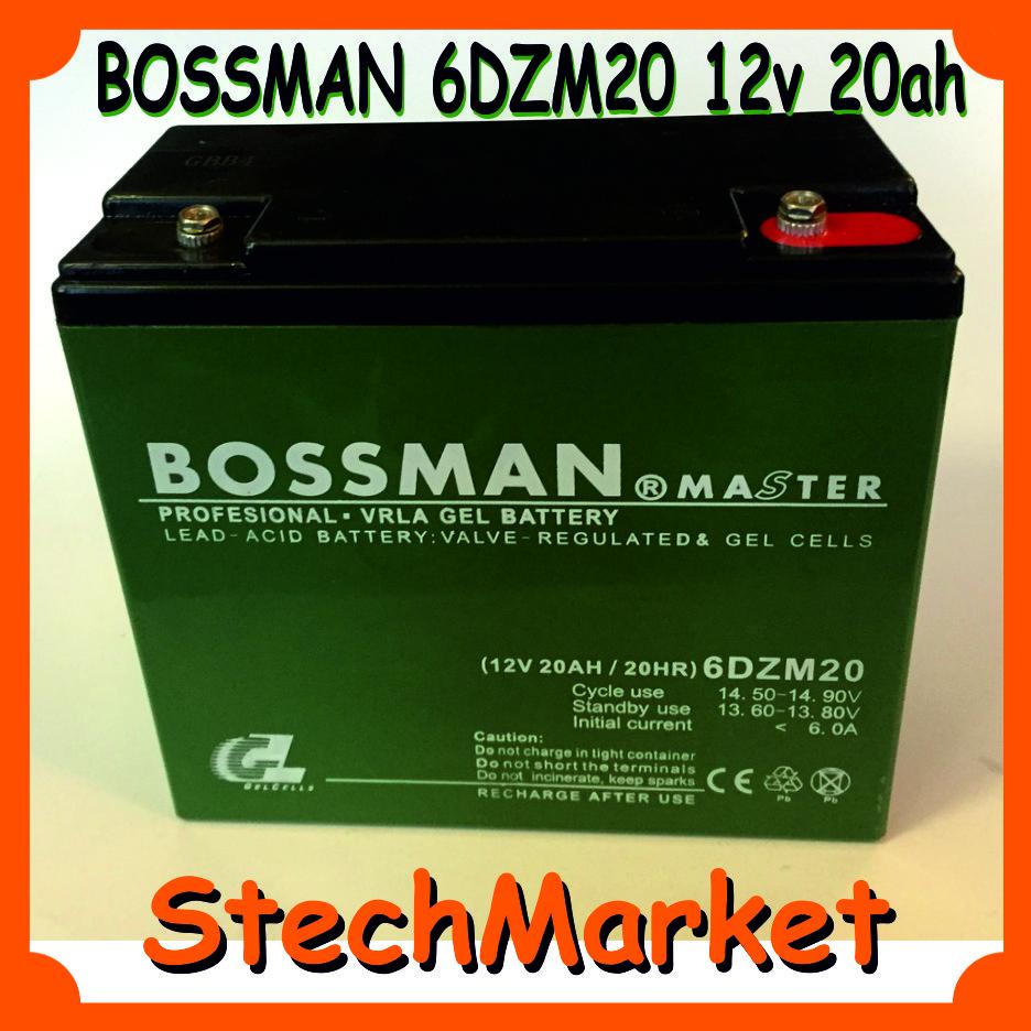 Аккумулятор BOSSMAN 6DZM20 12v 20ah (Гелиевый) - StechMarket в Харькове
