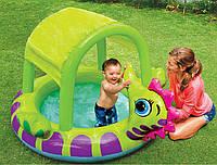 """Детский бассейн с навесом """"Морской конек"""" Intex"""
