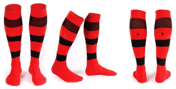 Гетры Liga Sport красно-черные полосатые