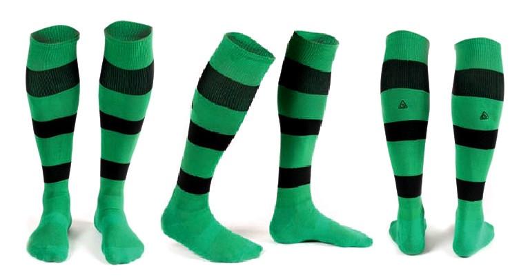 Гетры Liga Sport зелено-черные полосатые