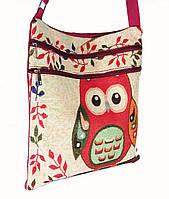 Пляжная сумка хлопковая на плечо