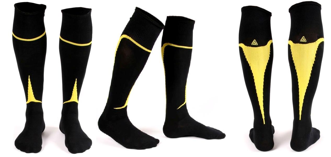 Гетры Liga Sport черно-желтые