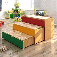 Детская кровать трехъярусная