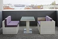 Модульный комплект мебели из искусственного ротанга плетеный