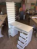 Професійний манікюрний стіл з витяжкою і двома тумбами V127, фото 2