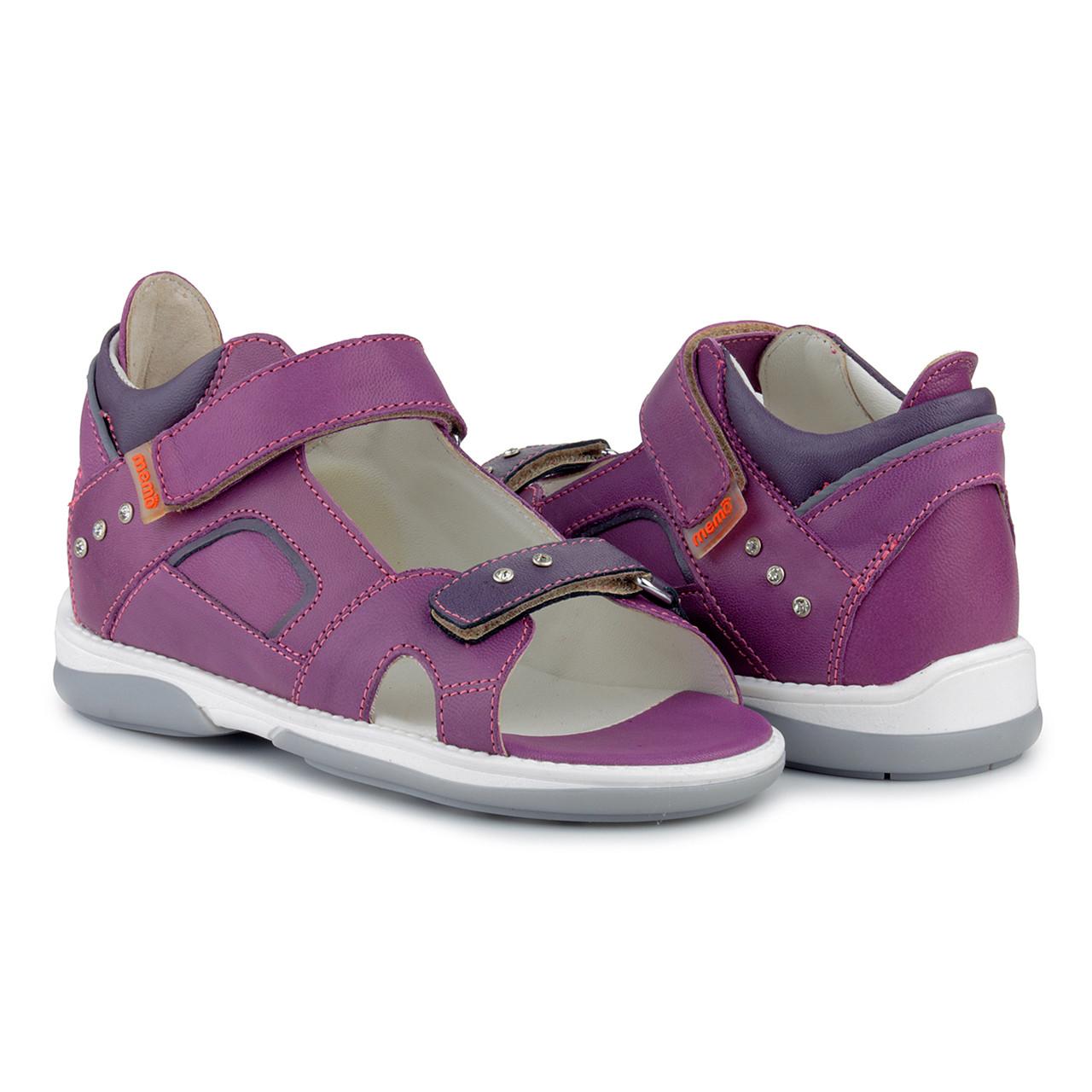 Босоножки ортопедические детские Memo Capri 3NA Фиолетовые