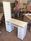 Професійний манікюрний стіл з витяжкою і двома тумбами V127, фото 3