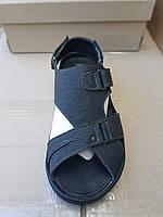Мужские шлепанцы-босоножки Adidas с натуральной кожи