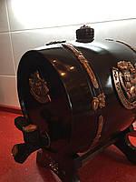 Бочка дерев'яна дубова робоча з краником для вина чи коньяка 5 л
