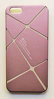Чехол на Айфон 5/5s/SE Cococ приятный Пластик Линии Матовый Пудровый Розовый, фото 1