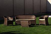 Набор мебели для дачи из искусственного ротанга плетеный