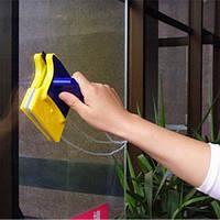 Магнитная щетка для мытья окон с обеих сторон-НОВИНКА