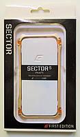 Чехол Бампер на Айфон 5/5s/SE Elementcase SECTOR Металл Золото