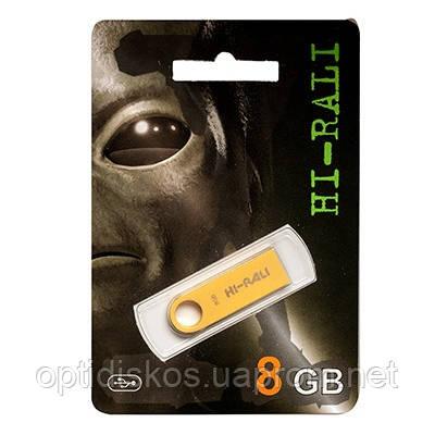 Флешка Hi-Rali 8GB Shuttle series, золотистая, фото 2