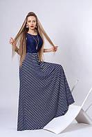 Стильное длинное платье в пол