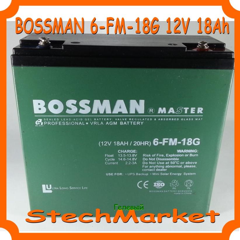 Аккумулятор Bossman 6-FM-18G 12V 18Ah Гелевый
