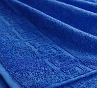 Полотенце махровое Туркменистан 30х50 средне-синие