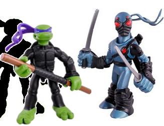 Набір міні-фігурок Донателло і Foot Ninja - Donatello and Foot Tech Ninja, 4Kids, 7СМ, Playmates