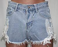 Шорты джинсовые молодежные женские с аппликацией, размеры S, М, XL