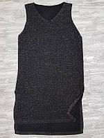 Платье вечернее с люрексом 933 без рукава